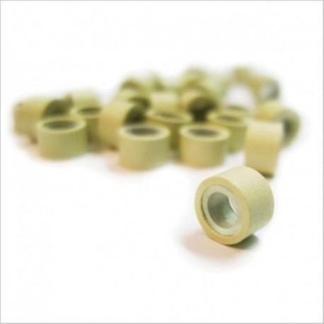 100 beige rings, 2 pullers