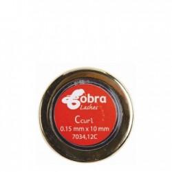 7034.12C Cils Ind. C-curl 0.15 Noir 10 mm