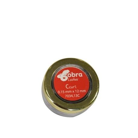 7034.13C Cils Ind. C-curl 015 Noir 12 mm